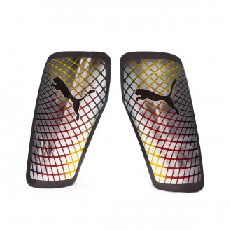 Shinpads  Puma Standalone Silver-High risk red-Blazing yellow