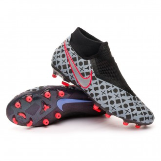 Zapatos de fútbol  Nike Phantom Vision Academy DF MG EA Sports White-Black-Bright crimon-Royal pulse