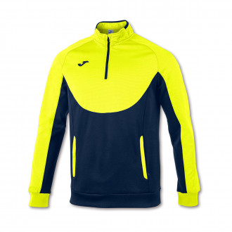 Sweat Joma Essential 1/2 fermeture Amarillo flúor-Bleu marine