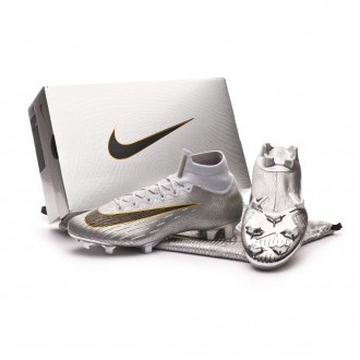 Zapatos de fútbol  Nike Superfly VI Elite FG Ballon d'Or Pure platinum-Black