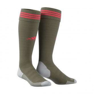 Football Socks  adidas Adisock 18 Raw khaki-Shock red