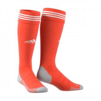 Meias adidas Adisock 18 Semi solar red-White