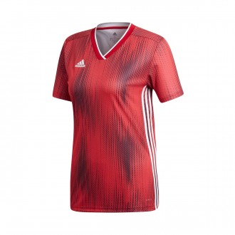 Camisola  adidas Tiro 19 Mujer m/c Power red-White
