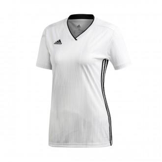 Camisola  adidas Tiro 19 Mujer m/c White-Black