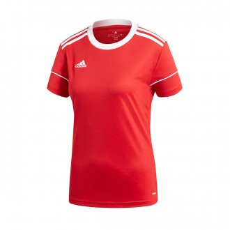 Camiseta  adidas Squadra 17 Mujer m/c Power red-White