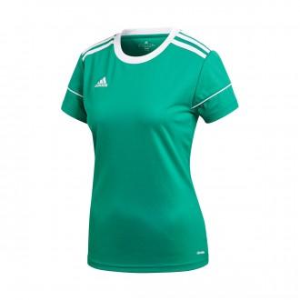 Camisola  adidas Squadra 17 Mujer m/c Bold green-White