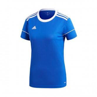 Camisola  adidas Squadra 17 Mujer m/c Bold blue-White
