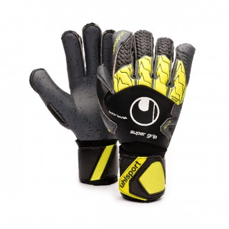 Guanti  Uhlsport Supergrip Bionik + Black-Fluor yellow-Dark grey