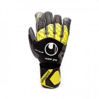 Luvas  Uhlsport Supergrip Bionik + Black-Fluor yellow-Dark grey