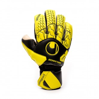 Luvas Uhlsport Absolutgrip Bionik Black-Fluor yellow