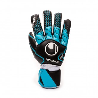 Luvas Uhlsport Soft HN Competition Black-Sky blue-White