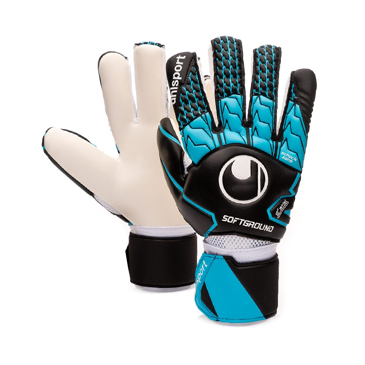 bf0a5810 Glove Uhlsport Soft HN Competition Black-Sky blue-White - Football store  Fútbol Emotion