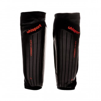 Shinpads  Uhlsport CarbonFlex 2.0 Black-Fluor yellow