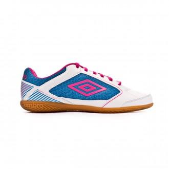 Zapatilla  Umbro Sala Liga White-Pink glo-Diva Blue