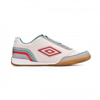 Chaussure de futsal  Umbro Futsal Street V IC Dawn blue-High rise-Fiery red-Spectra green