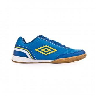 Zapatilla  Umbro Futsal Street V IC Electric blue-Blazing yellow-Royal-White