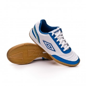 Futsal Boot  Umbro Futsal Street V IC White-Royal-Electric blue-Blazing yellow
