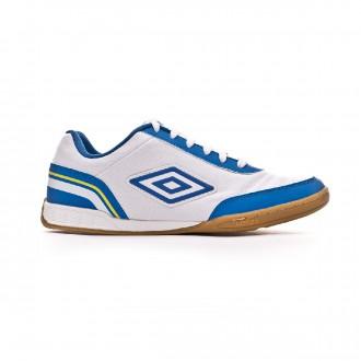 Zapatilla  Umbro Futsal Street V IC White-Royal-Electric blue-Blazing yellow