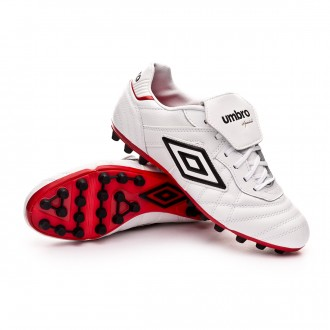 Chaussure de foot  Umbro Speciali Eternal Team AG White-Black-Vermillion