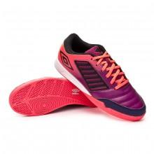 Sapatilha de Futsal Chaleira Liga IC Plum caspia-Black-Eclipse-Lava pink