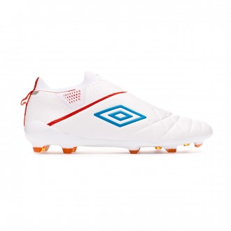 Football Boots  Umbro Medusae III Elite FG White-Ibiza blue-Cherry tomato
