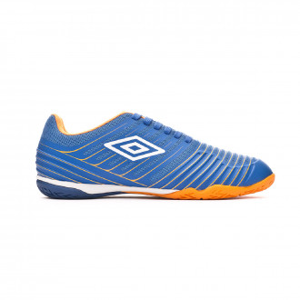 Sapatilha de Futsal  Umbro New Vision Pro IC Royal-White-Turmeric