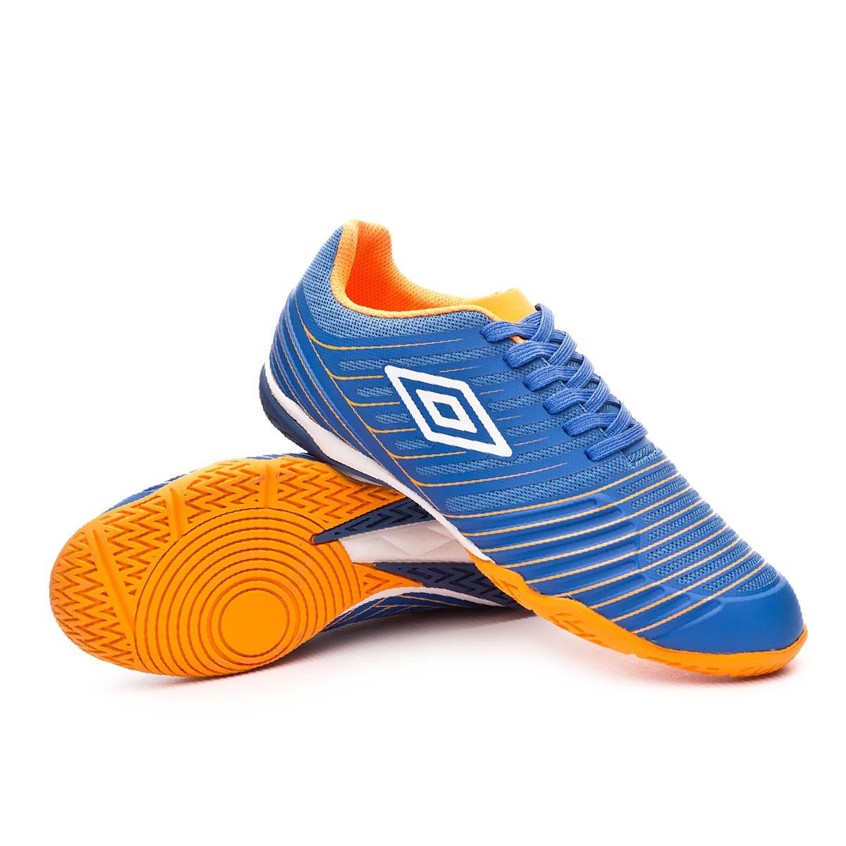 4cce5c1cf01be Futsal Boot Umbro New Vision Pro IC Royal-White-Turmeric - Football store  Fútbol Emotion