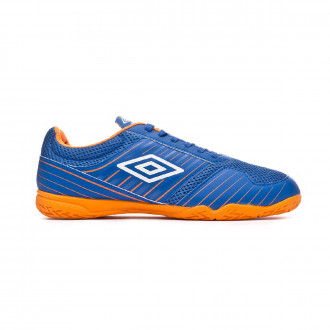 Sapatilha de Futsal  Umbro New Vision Liga IC Royal-White-Turmeric