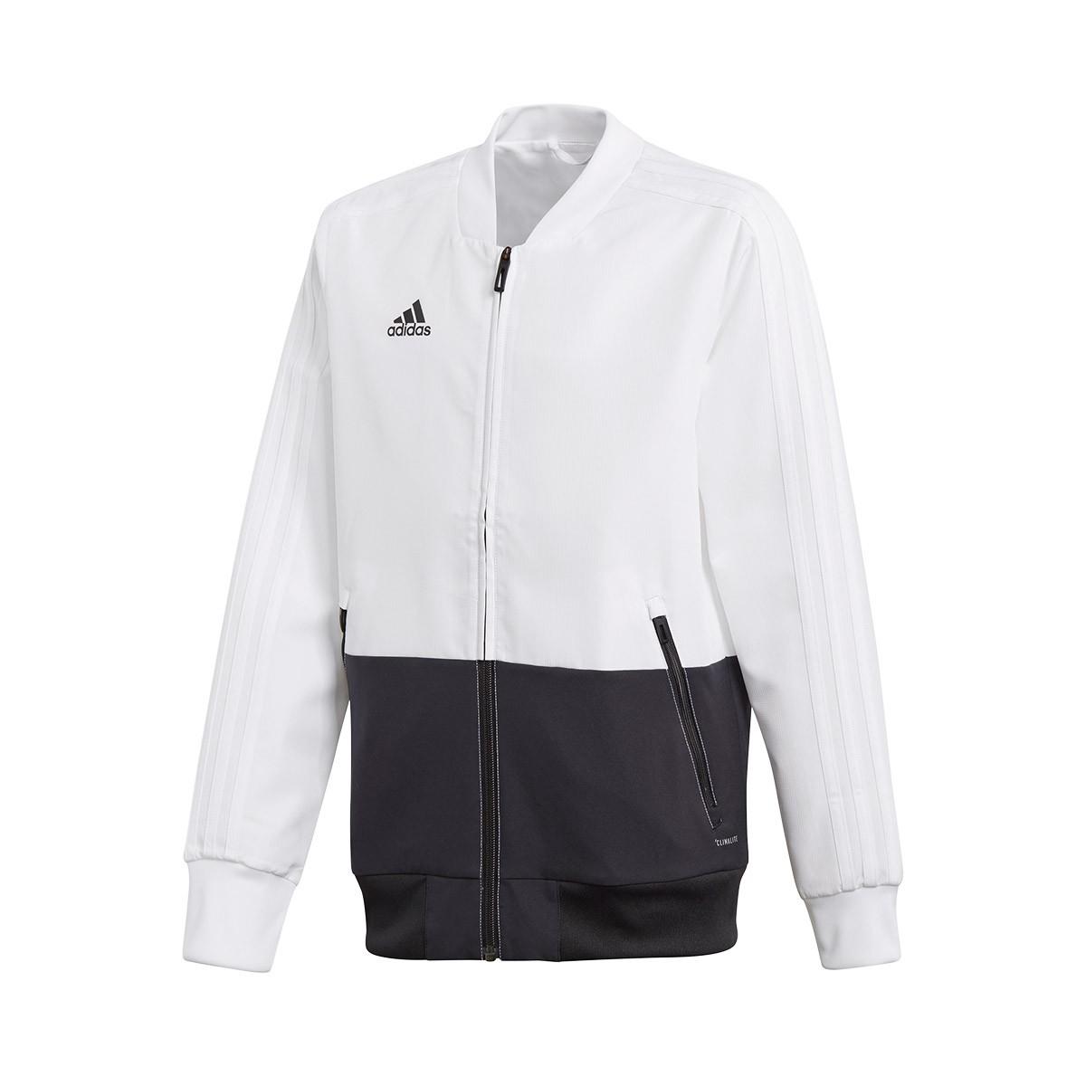 Chaqueta adidas Condivo 18 Presentation Niño White Black