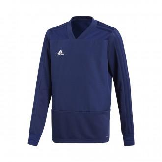 Sweatshirt  adidas Condivo 18 Training Niño Dark blue-White