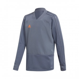 Sweatshirt  adidas Condivo 18 Training Niño Onix-Orange