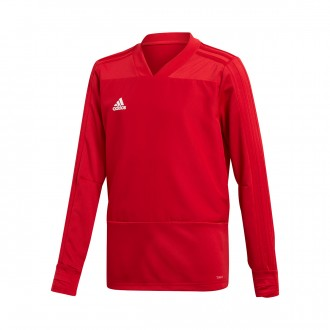 Sweatshirt  adidas Condivo 18 Training Niño Power red-White