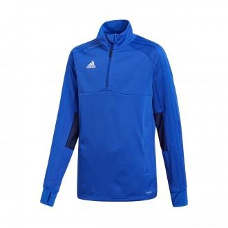 Sweatshirt  adidas Condivo 18 Training 2 Niño Bold blue-Dark blue-White