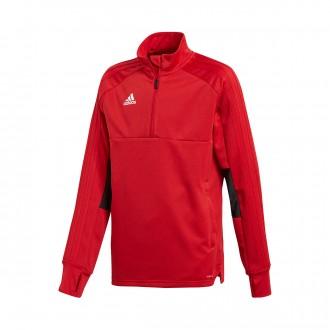 Sweatshirt  adidas Condivo 18 Training 2 Niño Power red-Black-White