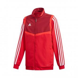 Jacket  adidas Tiro 19 Presentation Niño Power red-Collegiate burgundy-White