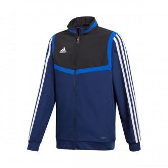 Jacket  adidas Tiro 19 Presentation Niño Dark blue-Black-White