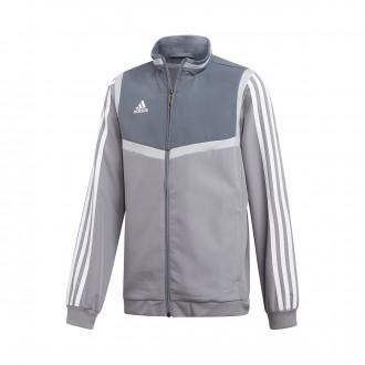 Jacket  adidas Tiro 19 Presentation Niño Grey-White