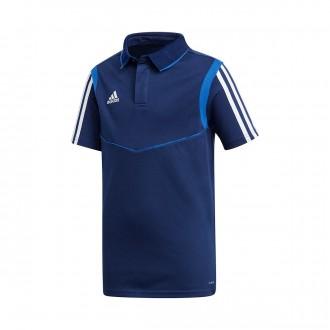 Polo shirt  adidas Tiro 19 Niño m/c Dark blue-Bold blue