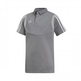 Polo shirt  adidas Tiro 19 Niño m/c Grey-White