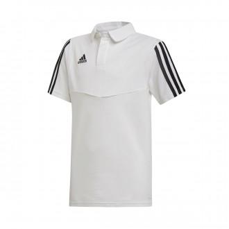 Polo  adidas Tiro 19 Niño m/c White-Black