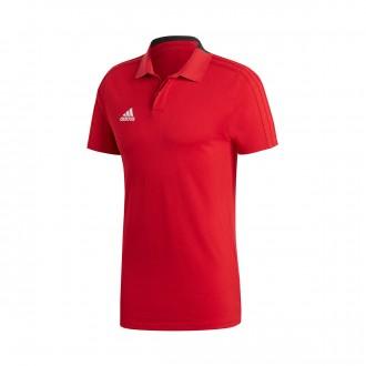 Polo shirt  adidas Condivo 18 m/c Power red-Black-White