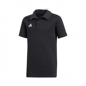 Polo shirt  adidas Kids Condivo 18 m/c  Black-White
