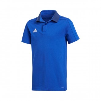 Polo shirt  adidas Kids Condivo 18 m/c  Bold blue-Dark blue-White