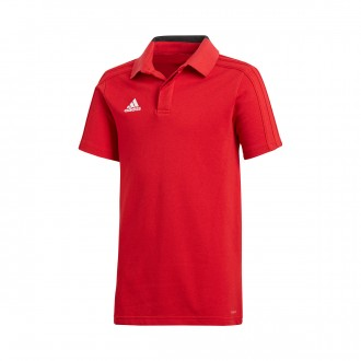 Polo shirt  adidas Condivo 18 m/c  Power red-Black-White