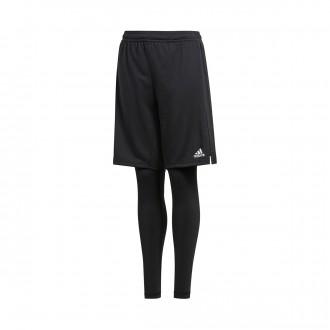Pantalón corto  adidas Condivo 18 2in1 Niño Black-White