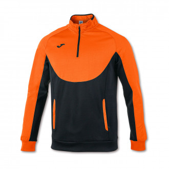 Sweat Joma Essential 1/2 Fermeture Orange-Noir