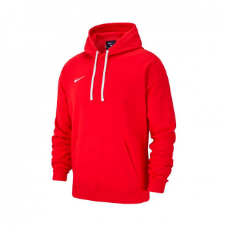 Sweatshirt Nike Club 19 Hoodie University red-White
