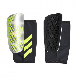 Shinpads  adidas X Pro Silver metallic-Solar yellow-White
