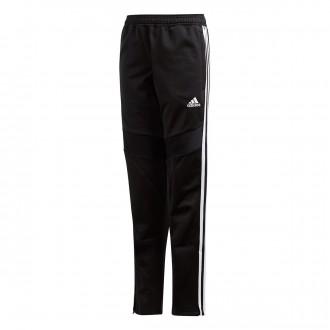 Pantalón largo  adidas Tiro 19 Polyester Niño Black-White