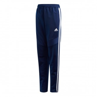 Tracksuit bottoms  adidas Tiro 19 Polyester Niño Dark blue-White